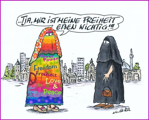 Burka, verschleierte Frauen