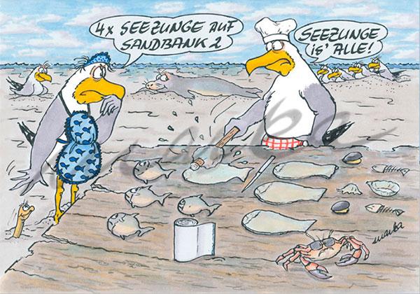 Cuxhaven-Cartoon_4xSeezunge_Marka-Design