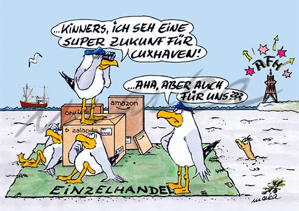 Cuxhaven-Cartoon_Einzelhandel_Marka-Design