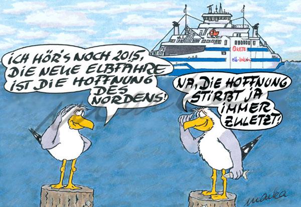 Cuxhaven-Cartoon_Faehre-und-Hoffnung_Marka-Design