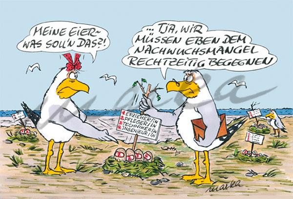 Cuxhaven-Cartoon_Nachwuchsmangel_Marka-Design