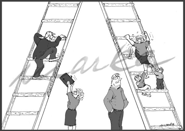 Karikatur_Karriereleiter_Marka-Design