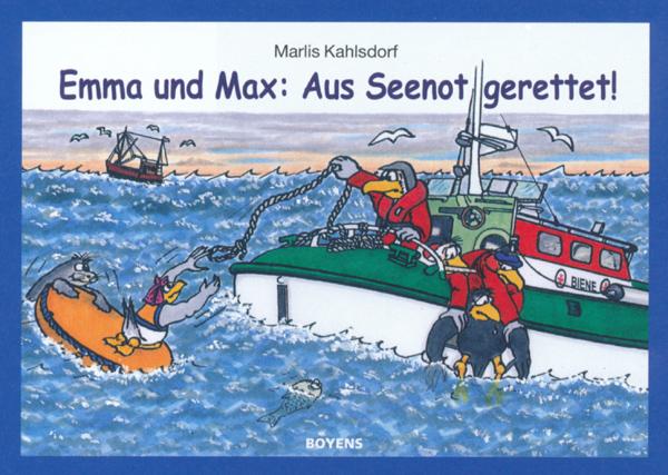 In Seenot - Buchillustration von Marka-Design