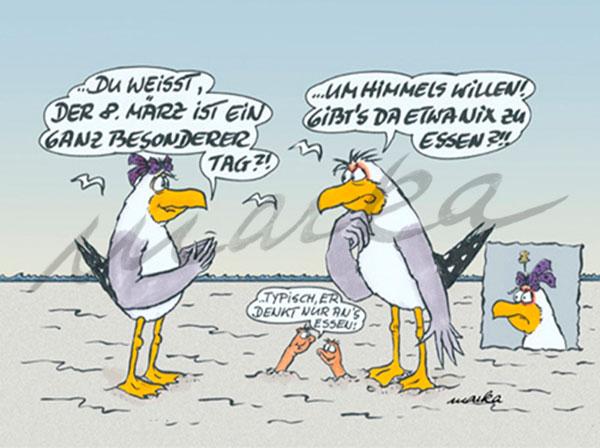 8. März an der Küste - maritimer Cartoon von Marka Design