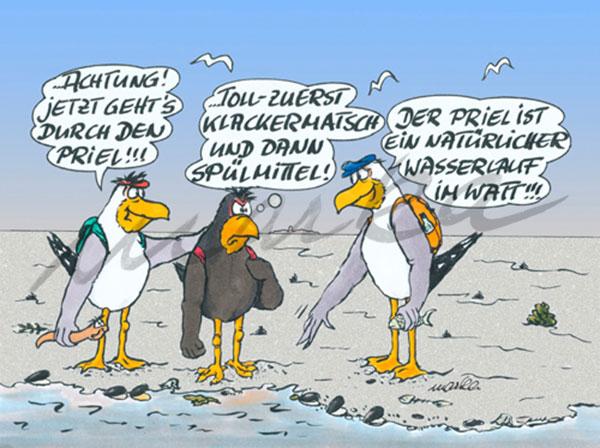 Klackermatsche - maritimer Cartoon von Marka Design