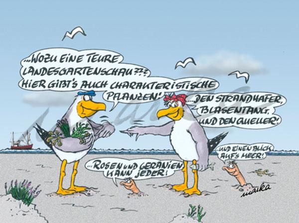 Landesgartenschau - maritimer Cartoon von Marka Design