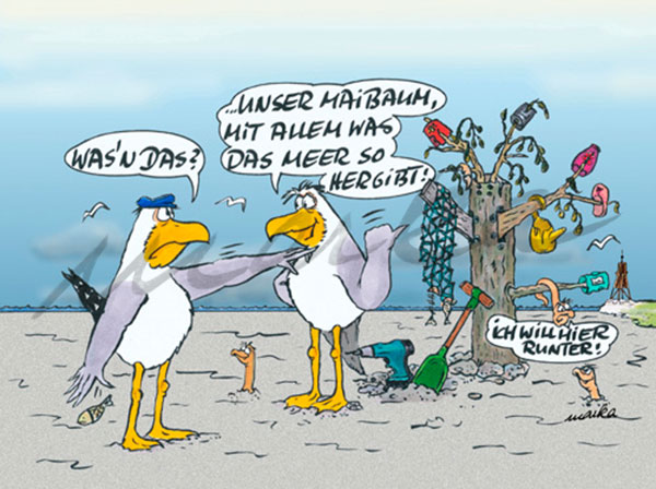 Maibaum - maritimer Cartoon von Marka Design