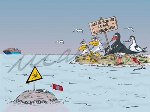 Schlickproblem - maritimer Cartoon von Marka Design