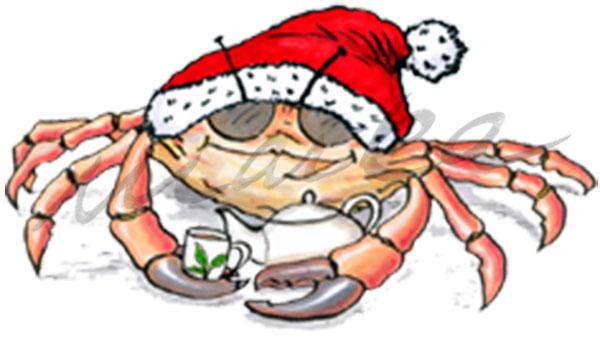 Weihnachtskrabbe - Grußkarte / Postkarte von Marka Design